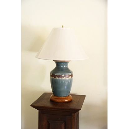 Picture of Black Forest Elephant Lamp Celadon