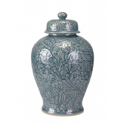 Picture of Blue Celadon Ginger Jar Celadon