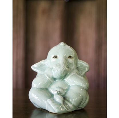 Picture of Baby Ganesha Celadon