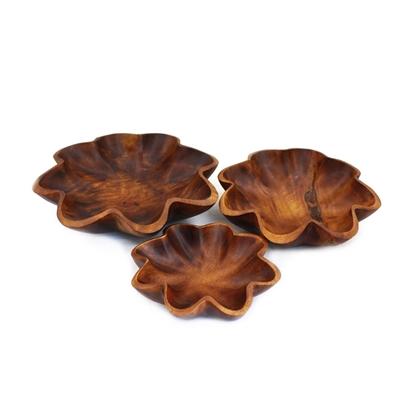 Picture of Mango wood (Ma-Muang) - Star bowl set (3 pcs.)