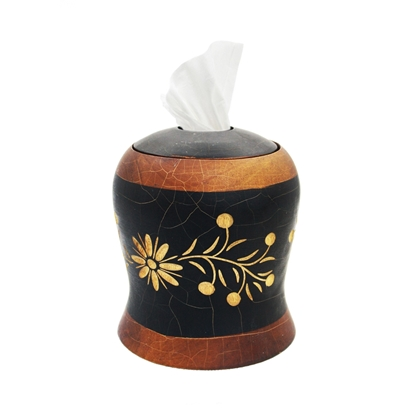 Picture of Mango wood (Ma-Muang) - Flower Carve Tissues box