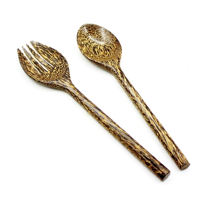 Picture of Palm wood (Tarn) - Salad spoon and fork