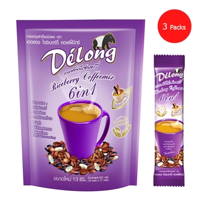 Picture of Delong Riceberry Coffeemix 6in1 (Pack 3)