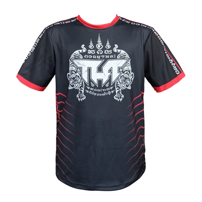Picture of TUFF Muay Thai Shirt True Power Double Tiger Black