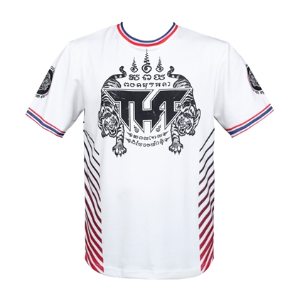 Picture of TUFF Muay Thai Shirt True Power Double Tiger White