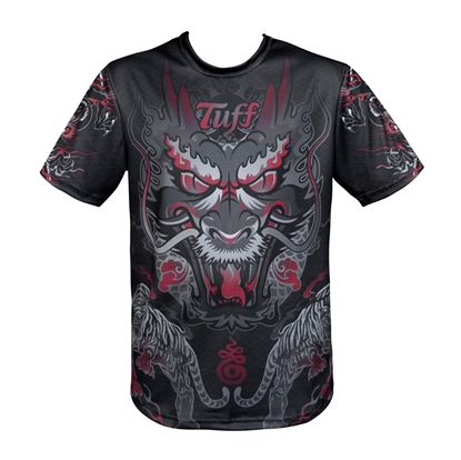 Picture of TUFF Muay Thai Shirt King of Dragon in Black