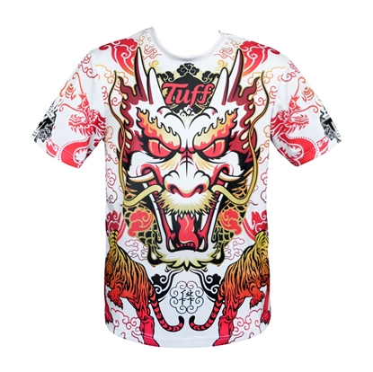 Picture of TUFF Muay Thai Shirt King of Dragon in Red