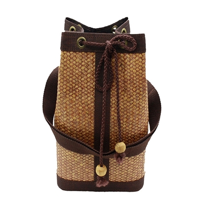 Picture of Kra-Jood weave - Black oak bucket bag