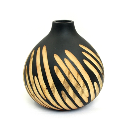 Picture of Mango wood (Ma-Muang) - Onion carved vase