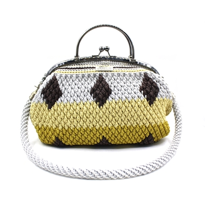 Picture of Droplet four color crochet  bag