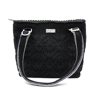 Picture of Black crown crochet bag