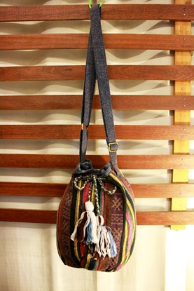 Picture of Bucket Tassel Bag - Grey