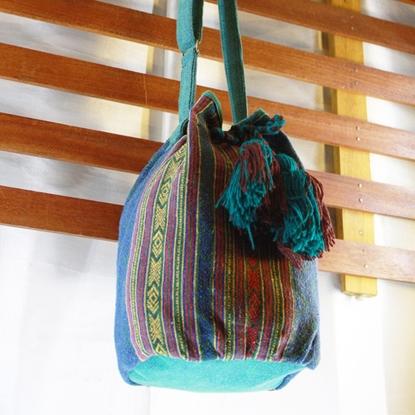 Picture of Bucket Tassel Bag - Green