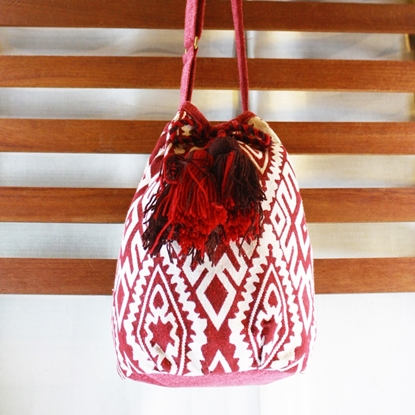 Picture of Bucket Tassel Bag - Red