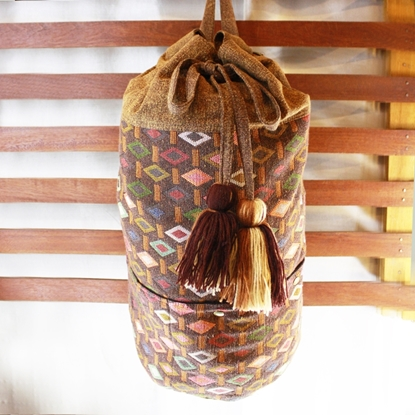 Picture of Backpack Tassel Bag - Tan