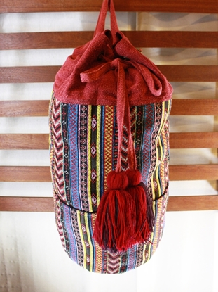 Picture of Backpack Tassel Bag - Red