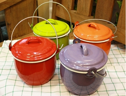 Picture of Thai Enamelware - Mini Colorful Pot