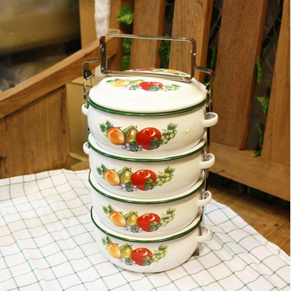 Picture of Thai Enamelware - Friuty Lunch Box