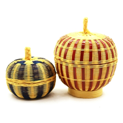Picture of Bamboo hand weaving fragrance holder set (2Pcs.)