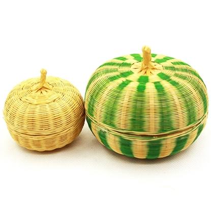 Picture of Bamboo hand weaving fragrance holder - Pumpkin set (2Pcs.)