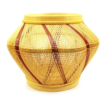 Picture of Blossom Bamboo hand weaving Home décor size 24 cm.