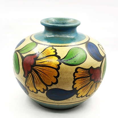 Picture of  Chaba flower Pottery hand painted round vase
