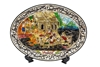 Picture of Mother Of Pearl The living of Thai in ancient Oval Plate