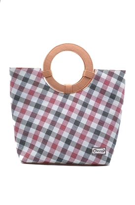Picture of  Black cherry Thai loincloth tote handbag