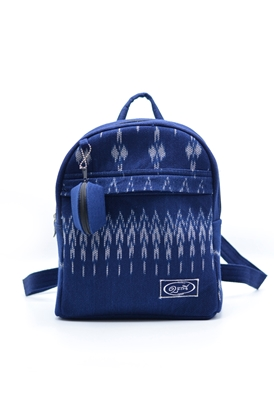 Picture of  Indigo thai mudmee pattern backpack