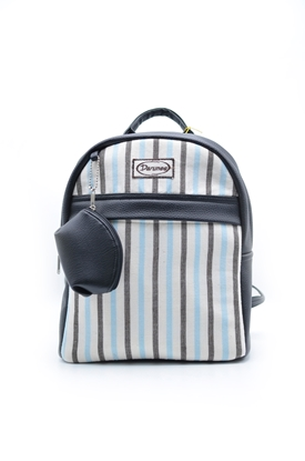 Picture of  Babyblue stripe Thai loincloth backpack