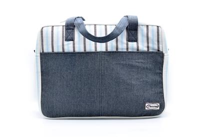 Picture of Babyblue stripe travel bag