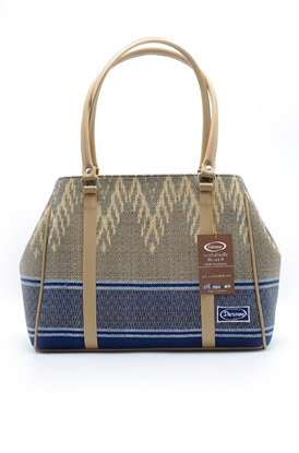 Picture of กระเป๋าถือผ้าคอตต้อนทอมือลายไทยซิกแซก
