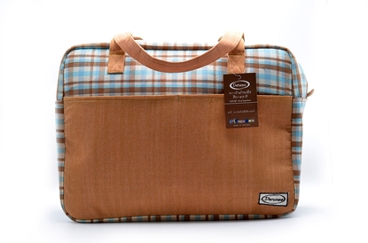Picture of  Blue-caramel Thai loincloth travel bag