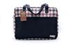 Picture of กระเป๋าเดินทางผ้าขาวม้าคอตต้อนทอมือสี Black berry
