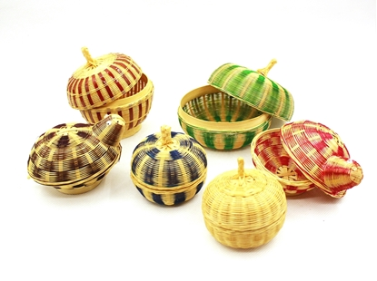 Picture of Bamboo hand weaving fragrance holder family set (6Pcs.)