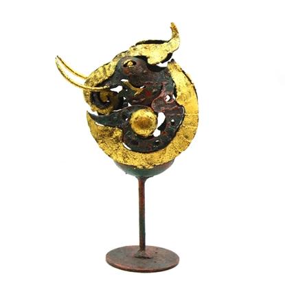 Picture of Elegant royal elephant steel candle holder
