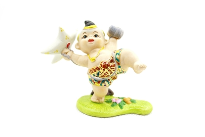 Picture of Kite flying Thai sport (Wao-Jula) Ceramic doll