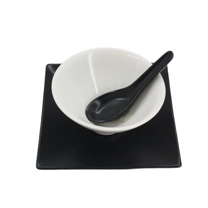 Picture of B&W Yin-Yang ceramic tableware set