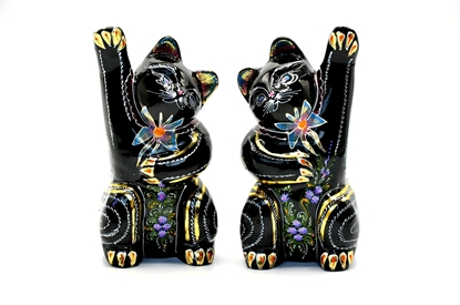 Picture of Lucky twins cat Thai lacquerware (2 pcs.)