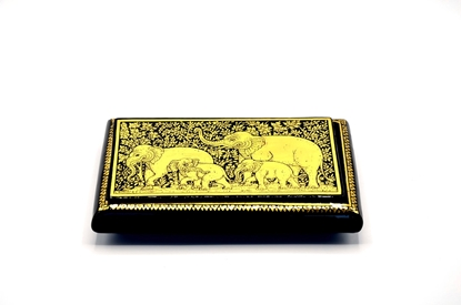 Picture of Elephant box Thai lacquerware