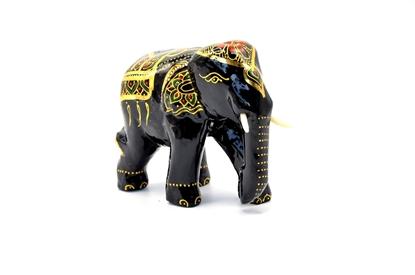 Picture of Mini elegant elephant Thai lacquerware