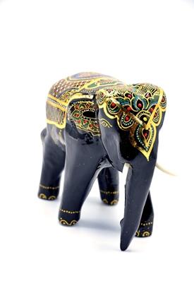 Picture of Elegant elephant Thai lacquerware