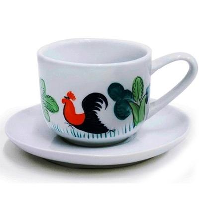 Picture of ชุดถ้วยชาพอร์ซเลนเซรามิกตราไก่
