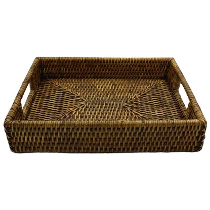 Picture of Rattan serving tray with handles (Small)