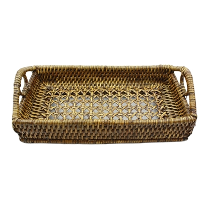 Picture of Vintage wicker rattan tray