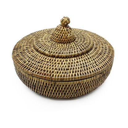 Picture of Thai native rattan box with cover