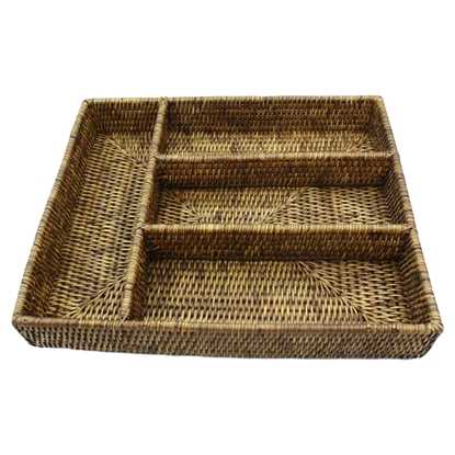 Picture of Rattan tableware tray 4-slot