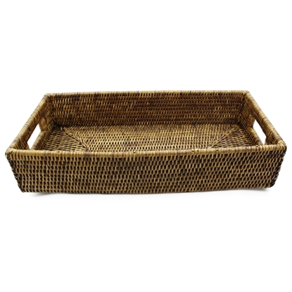 Picture of Rattan serving tray with handles (Big)