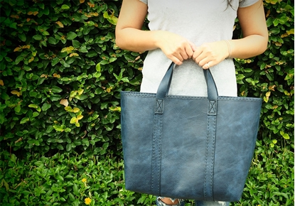 Picture of  Ars D Sine - Square all leather tote