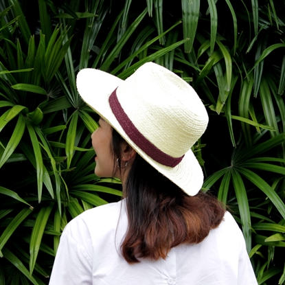 Picture of White with Color Line Panama Parn Sorn Narai Hat
